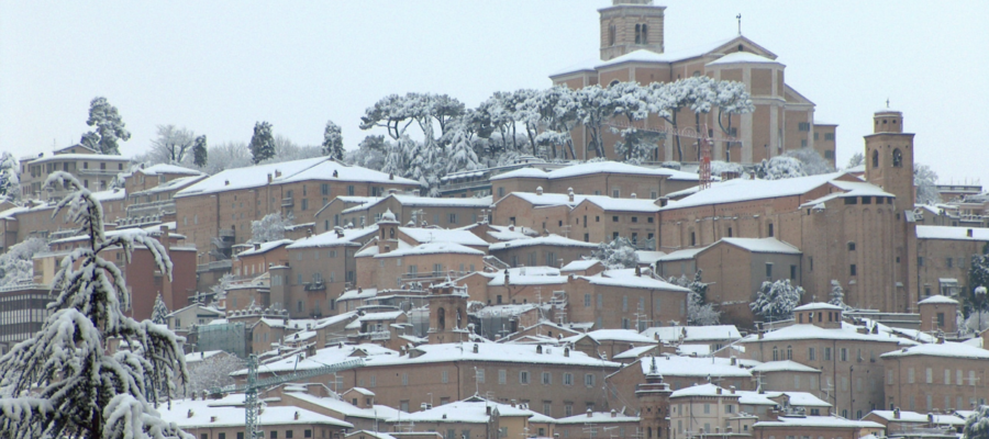 Fermo in de winter